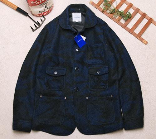 True balance blue camo 5Pocket round collar wool jacket